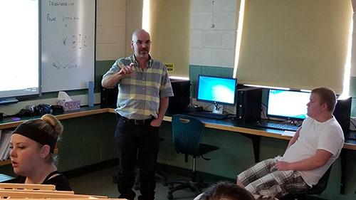 scott gray teaches in a classroom