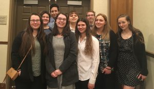 middleburgh fbla students who participated in the district conference pose for a picture
