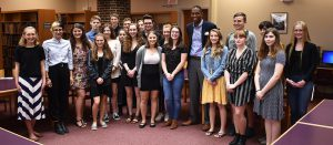 Rep. Antonio Delgado poses with Jr./Sr. High School students