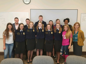 middleburgh ffa club and state officers