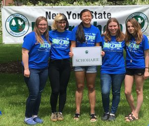 members of the middleburgh envirothon team pose for a picture