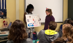 students present their career research projects
