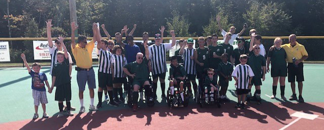 middleburgh soccer players help at the miracle league