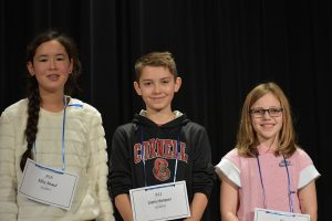 From L to R: Ellie Shaul (3rd place), Liam Hooper (2nd place), Aleah Becker (1st place)