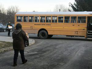 bring food to a school bus