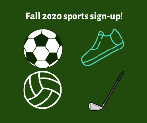 Fall 2020 sports sign up  photo