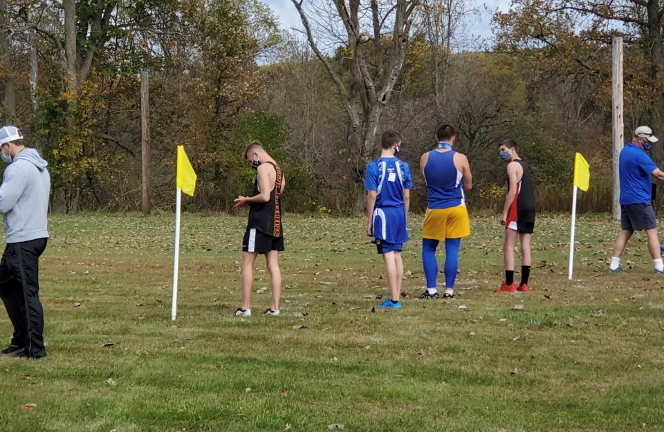 BKW-Middleburgh Cross Country team starting lineup