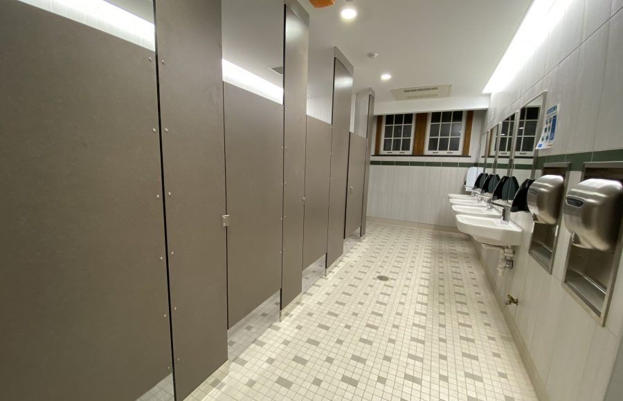 Newly remodeled girl's bathrooms