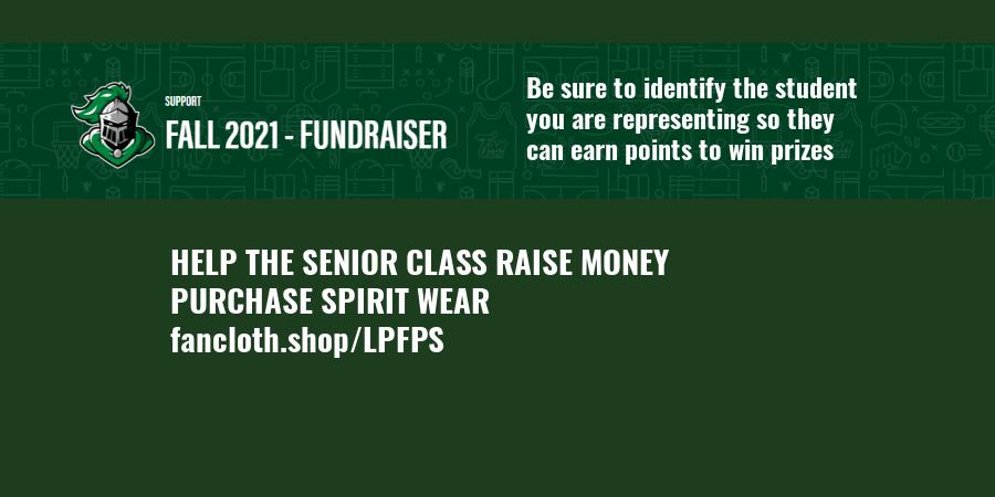 HELP THE SENIOR CLASS RAISE MONEY PURCHASE SPIRIT WEAR